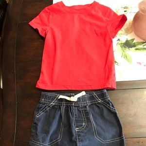 Cat & Jack Outfit Shorts and Tee 18-24 Months